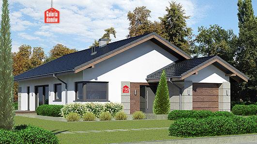 Projekt domu - Dom przy Pastelowej 19 D