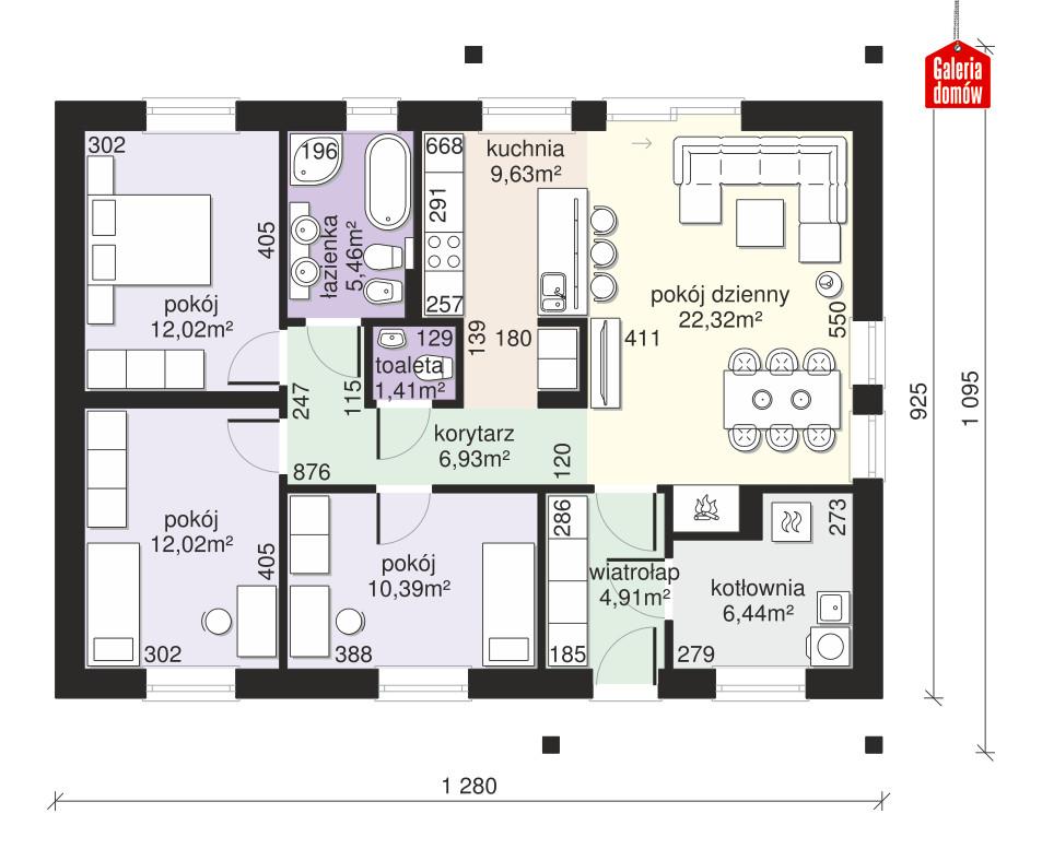 Dom przy Bukowej 24 - rzut parteru