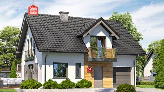 Projekt domu - Dom przy Alabastrowej 54