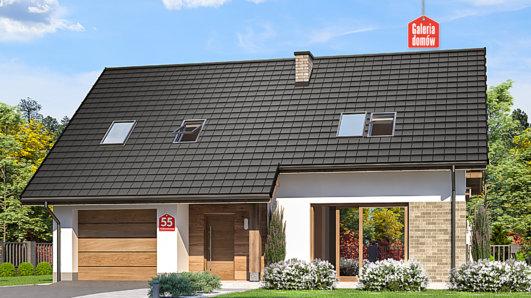 Projekt domu - Dom przy Alabastrowej 55