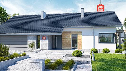Projekt domu - Dom przy Przyjemnej 26 bis