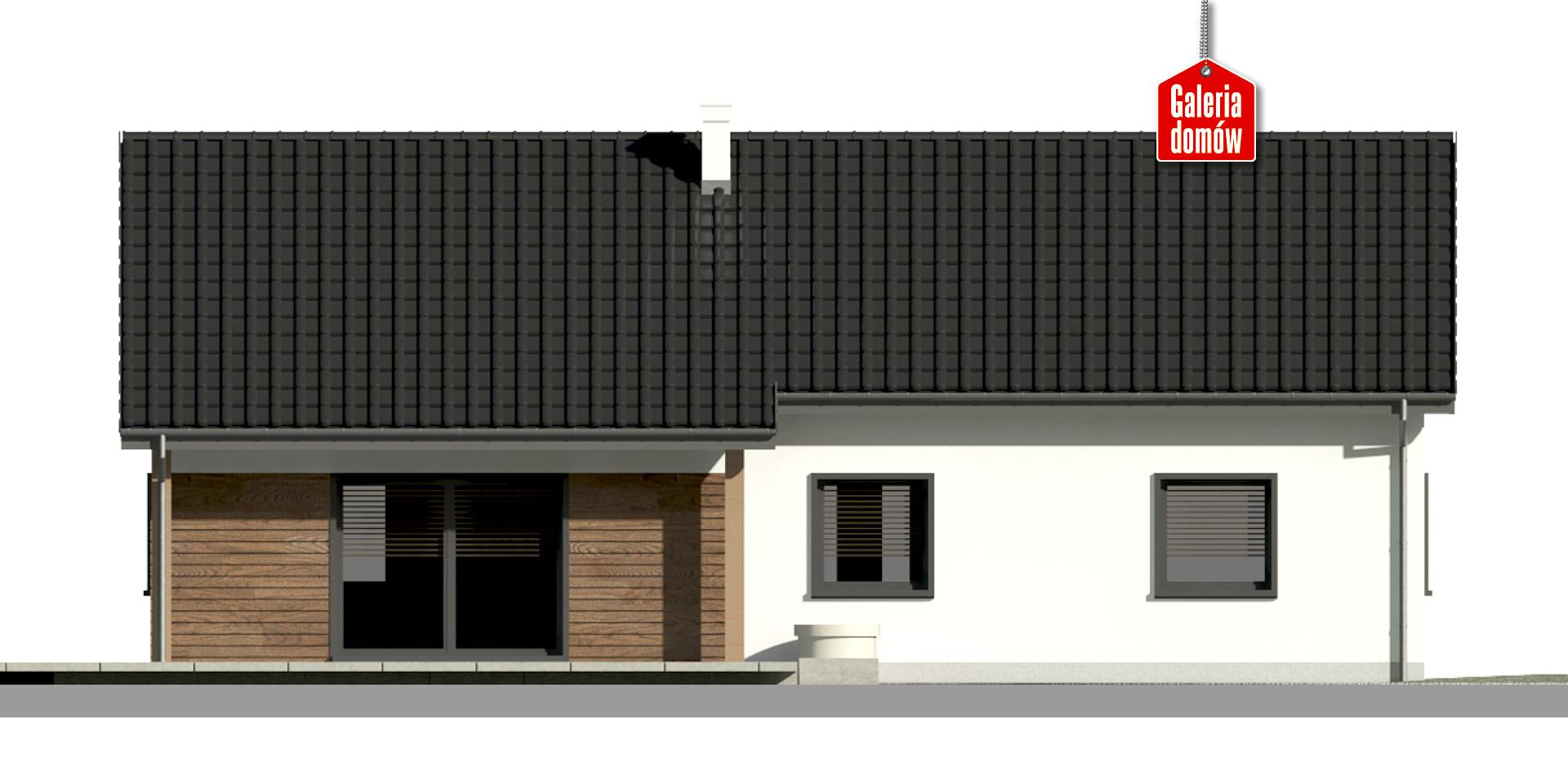 Dom przy Bukowej 30 - elewacja tylna