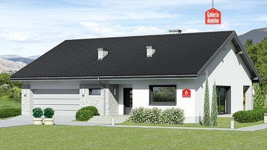 Projekt domu - Dom przy Rubinowej 6