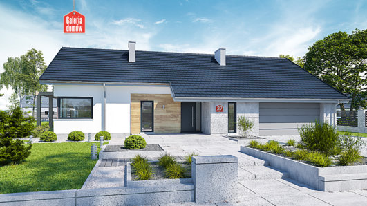Projekt domu - Dom przy Przyjemnej 27 bis