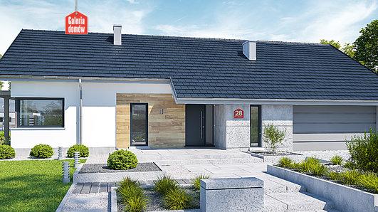 Projekt domu - Dom przy Przyjemnej 28 bis