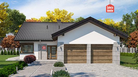 Projekt domu - Dom przy Pastelowej 20