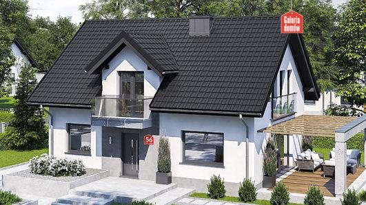 Projekt domu - Dom przy Alabastrowej 56