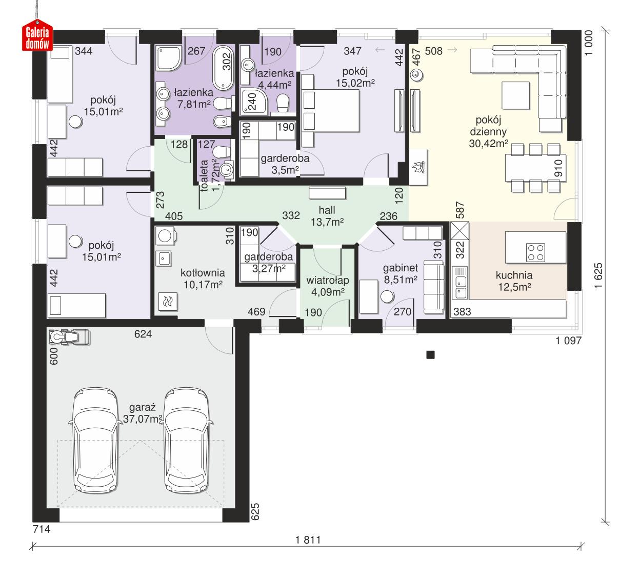 Dom przy Bukowej 33 - rzut parteru