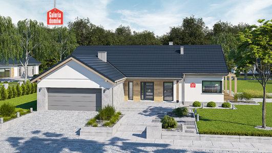 Projekt domu - Dom przy Bukowej 33