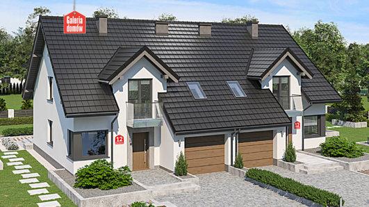 Projekt domu - Dom przy Amarantowej 12 dwulokalowy