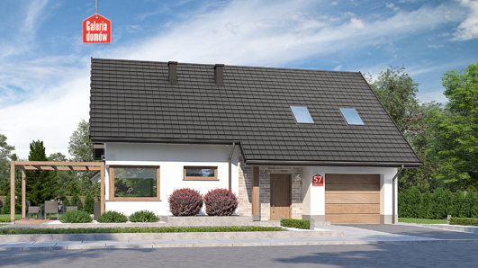 Projekt domu - Dom przy Alabastrowej 57