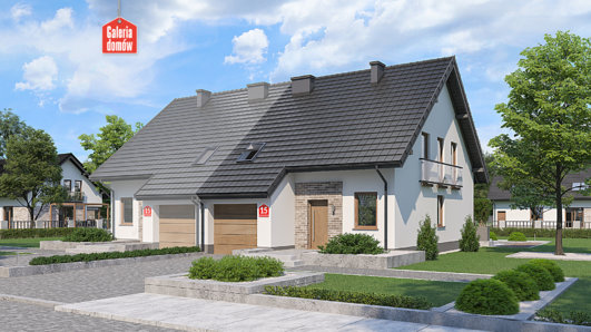 Projekt domu - Dom przy Amarantowej 15