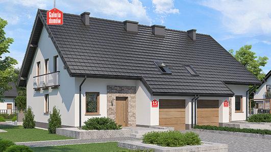 Projekt domu - Dom przy Amarantowej 15 dwulokalowy