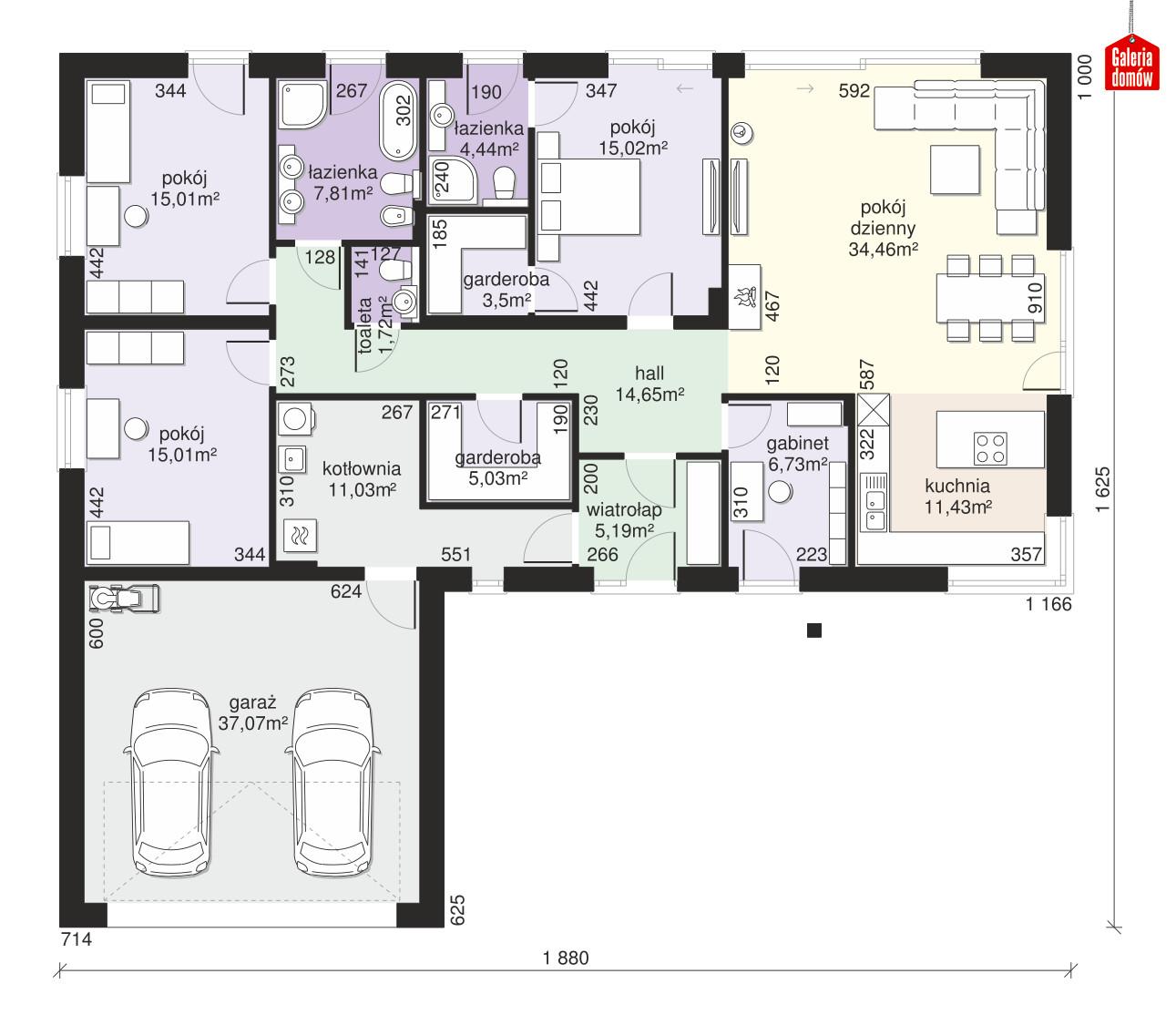 Dom przy Bukowej 36 - rzut parteru
