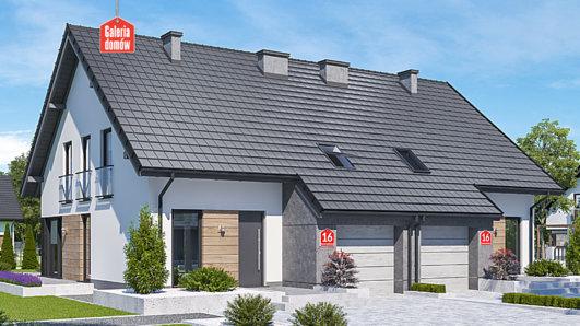 Projekt domu - Dom przy Amarantowej 16 dwulokalowy