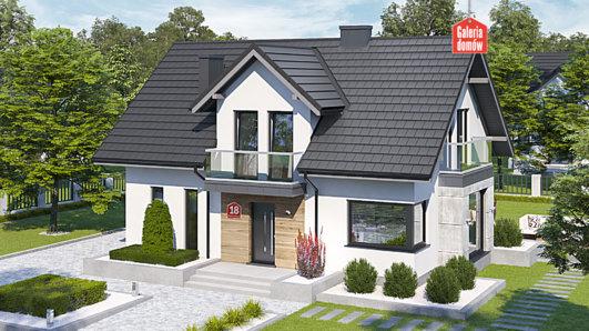 Projekt domu - Dom przy Modrzewiowej 18