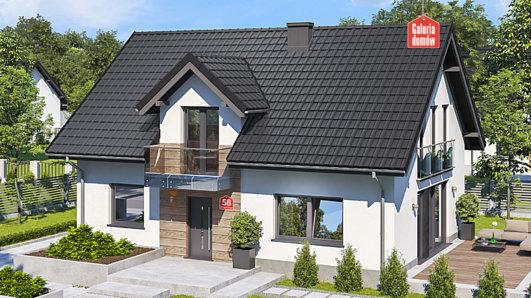 Projekt domu - Dom przy Alabastrowej 58