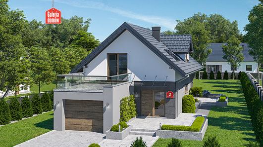 Projekt domu - Dom przy Kolorowej 2