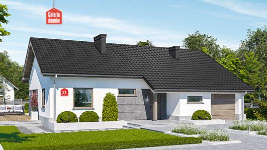 Projekt domu - Dom przy Przyjemnej 31 bis