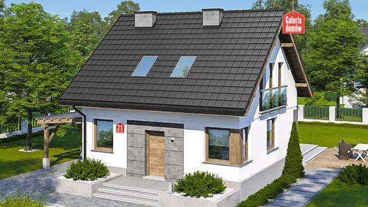 Projekt domu - Dom przy Wiosennej 21