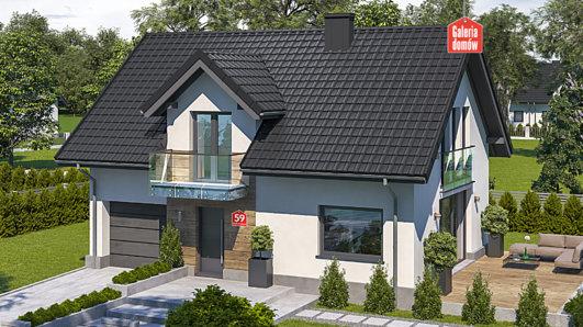 Projekt domu - Dom przy Alabastrowej 59