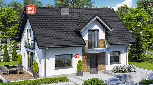 Projekt domu - Dom przy Alabastrowej 60