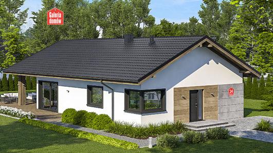 Projekt domu - Dom przy Pastelowej 24