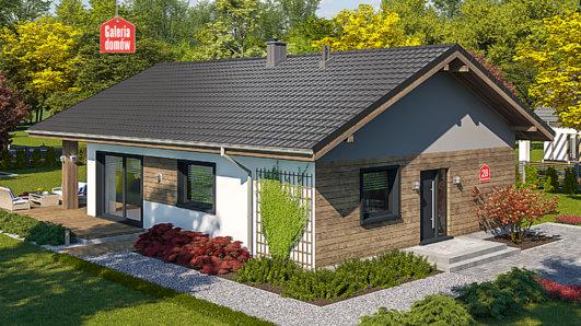 Projekt domu - Dom przy Pastelowej 28
