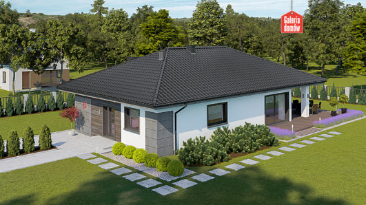 Projekt domu - Dom przy Pastelowej 25