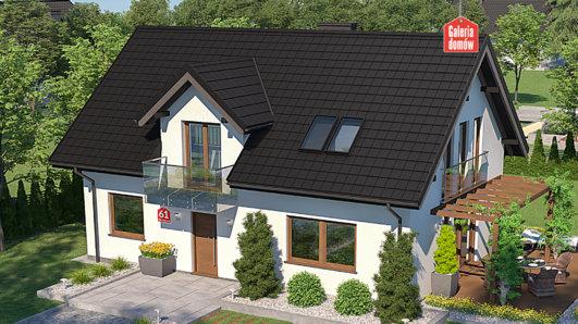 Projekt domu - Dom przy Alabastrowej 61