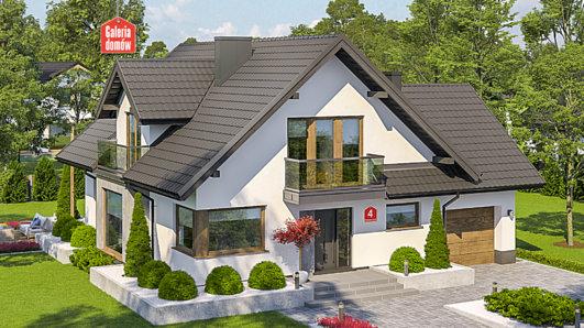 Projekt domu - Dom przy Pomarańczowej 4