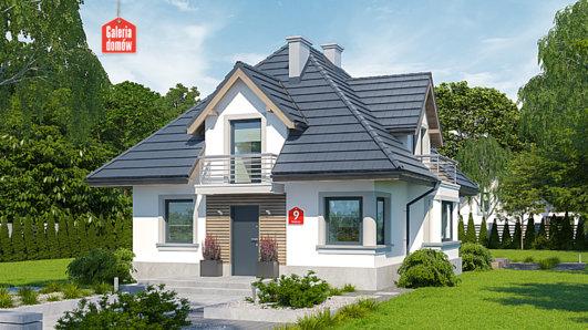 Projekt domu - Dom przy Sielskiej 9
