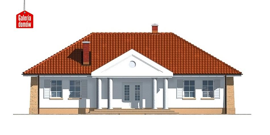 Dom przy Jesionowej - elewacja tylna