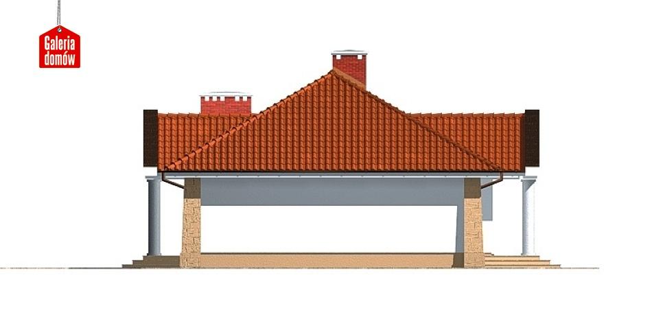 Dom przy Jesionowej - elewacja lewa
