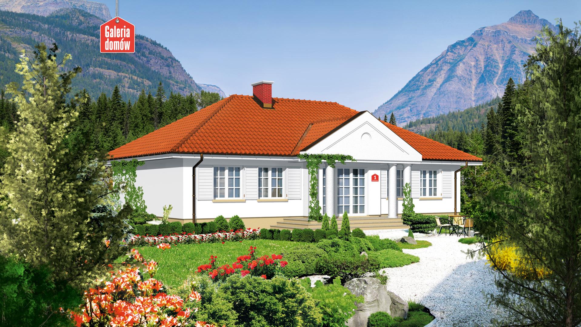 Dom przy Jesionowej - widok od ogrodu