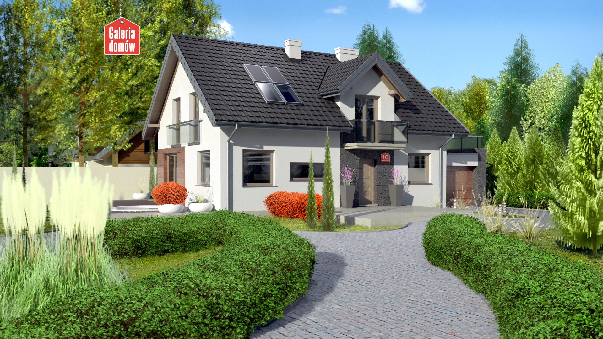 Dom przy Alabastrowej 10 - zdjęcie projektu i wizualizacja