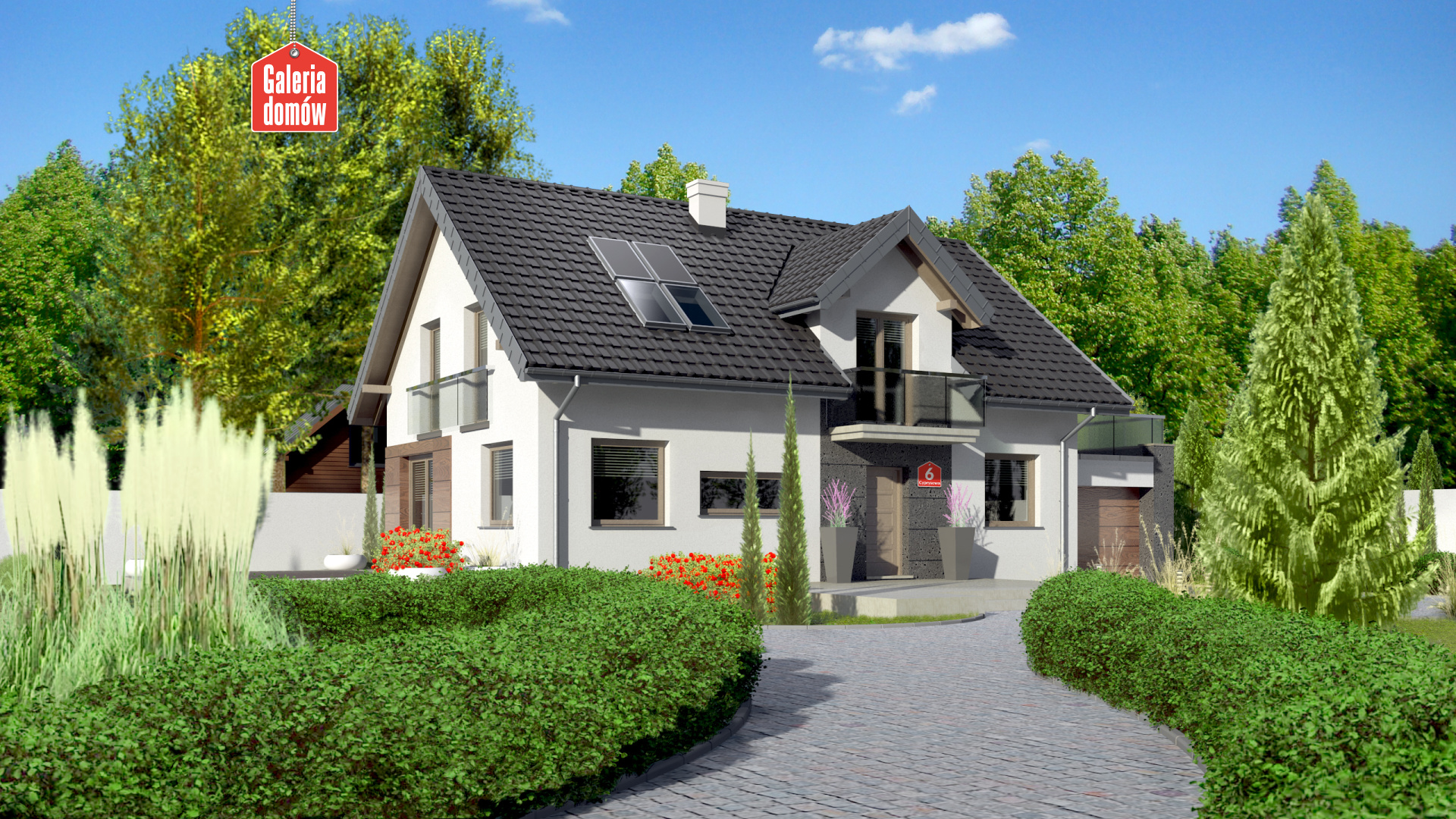 Zdjęcie projektu i wizualizacja: projekt domu Dom przy Alabastrowej 14