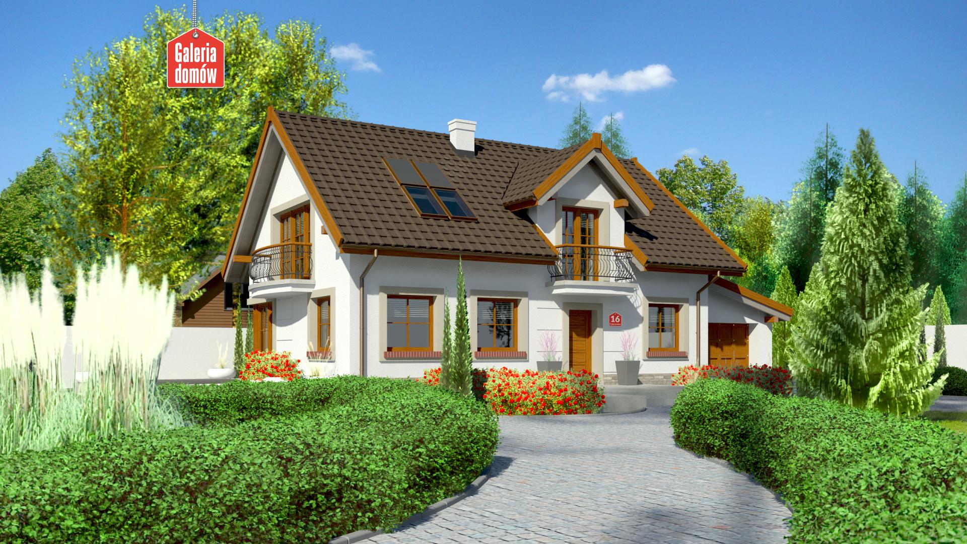 Dom przy Alabastrowej 16 - zdjęcie projektu i wizualizacja