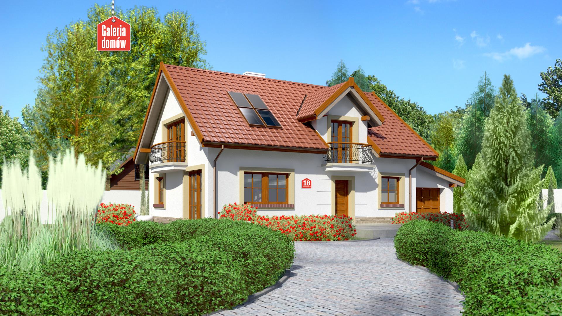 Zdjęcie projektu i wizualizacja: projekt domu Dom przy Alabastrowej 18