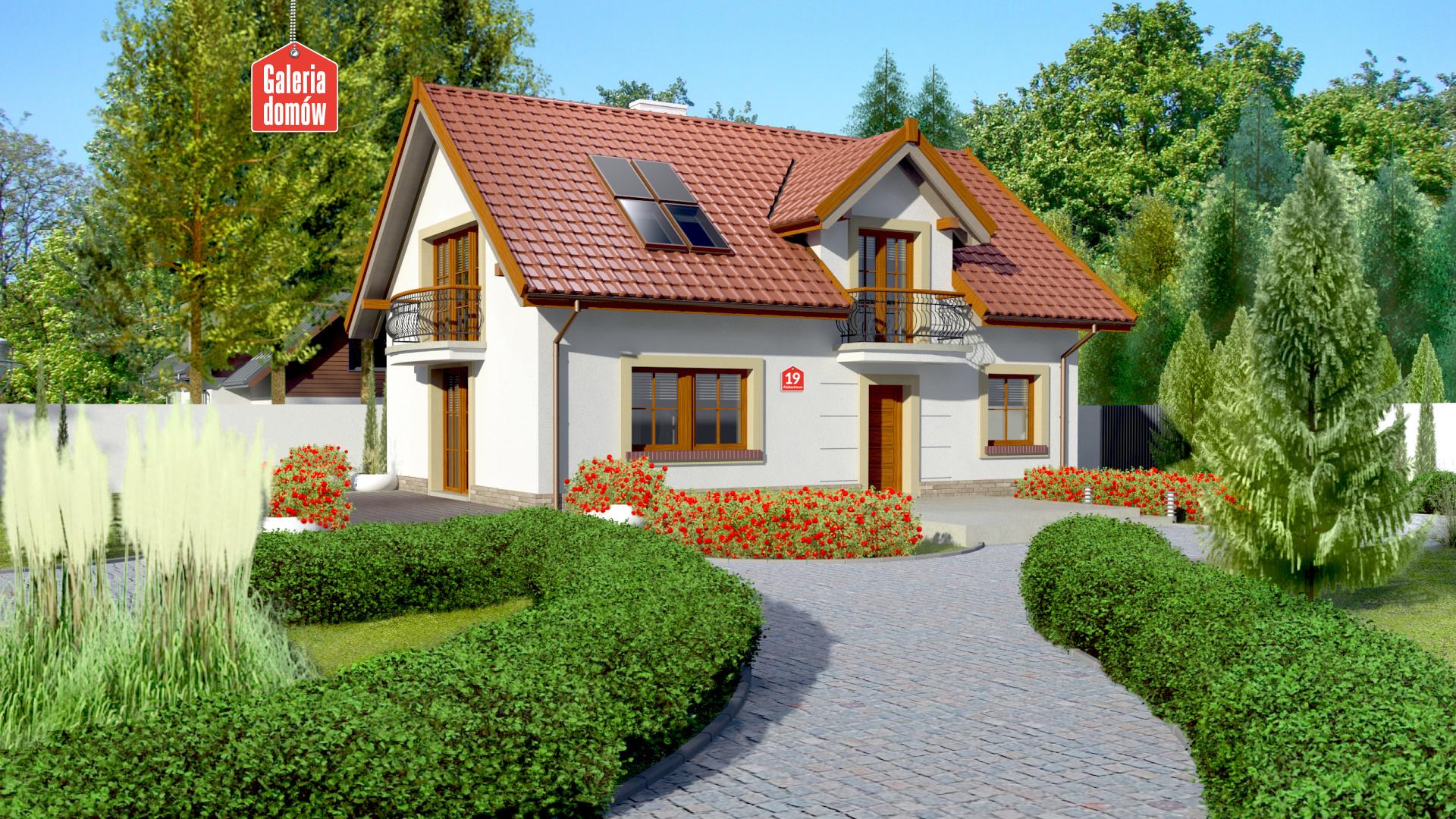 Dom przy Alabastrowej 19 - zdjęcie projektu i wizualizacja