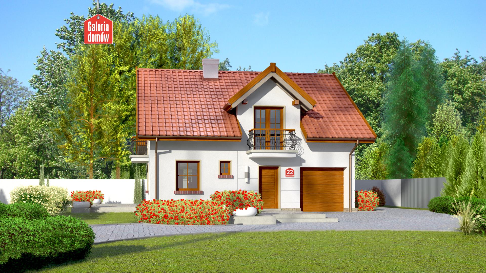 Dom przy Alabastrowej 22 - zdjęcie projektu i wizualizacja
