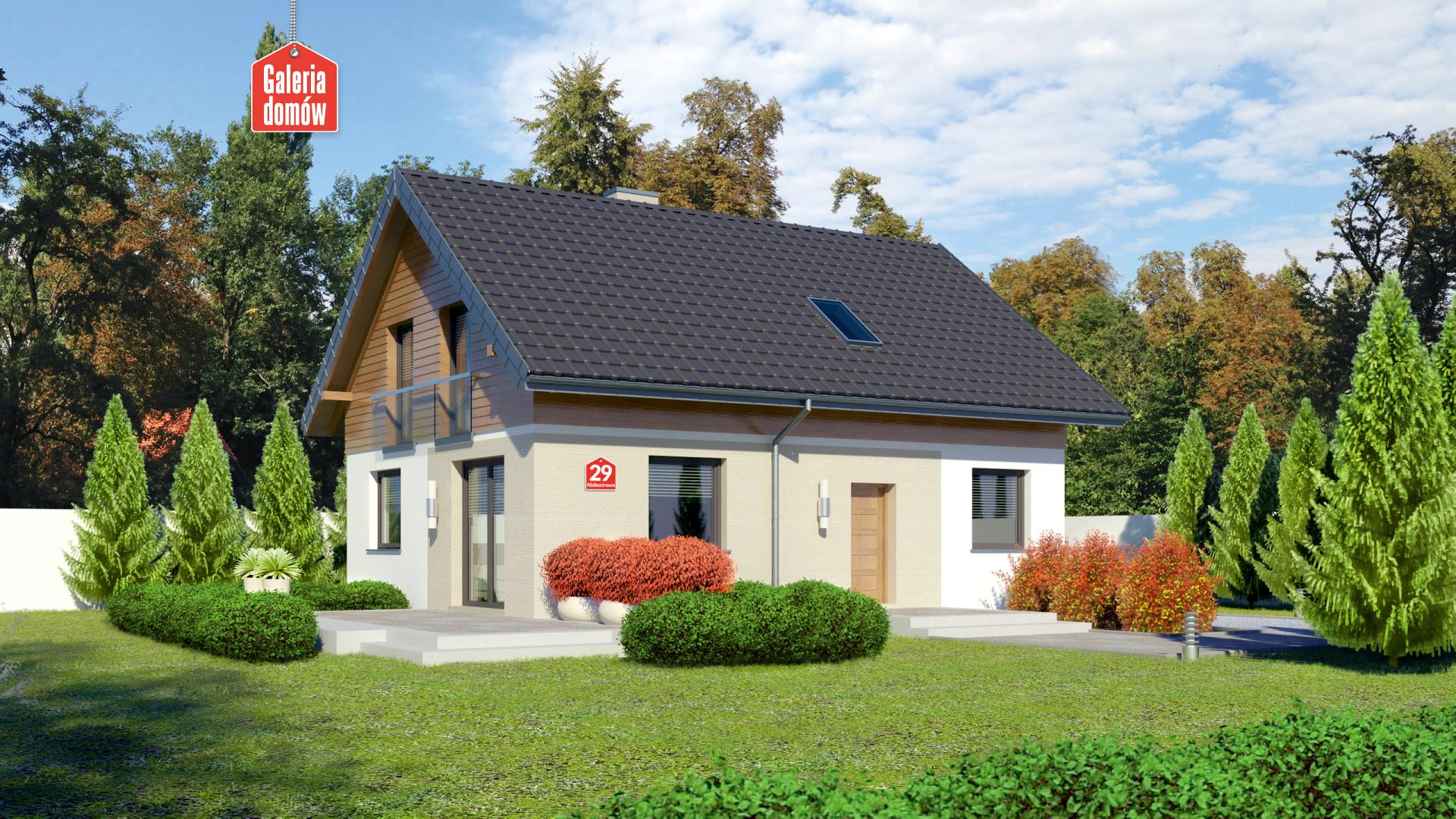 Zdjęcie projektu i wizualizacja: projekt domu Dom przy Alabastrowej 29