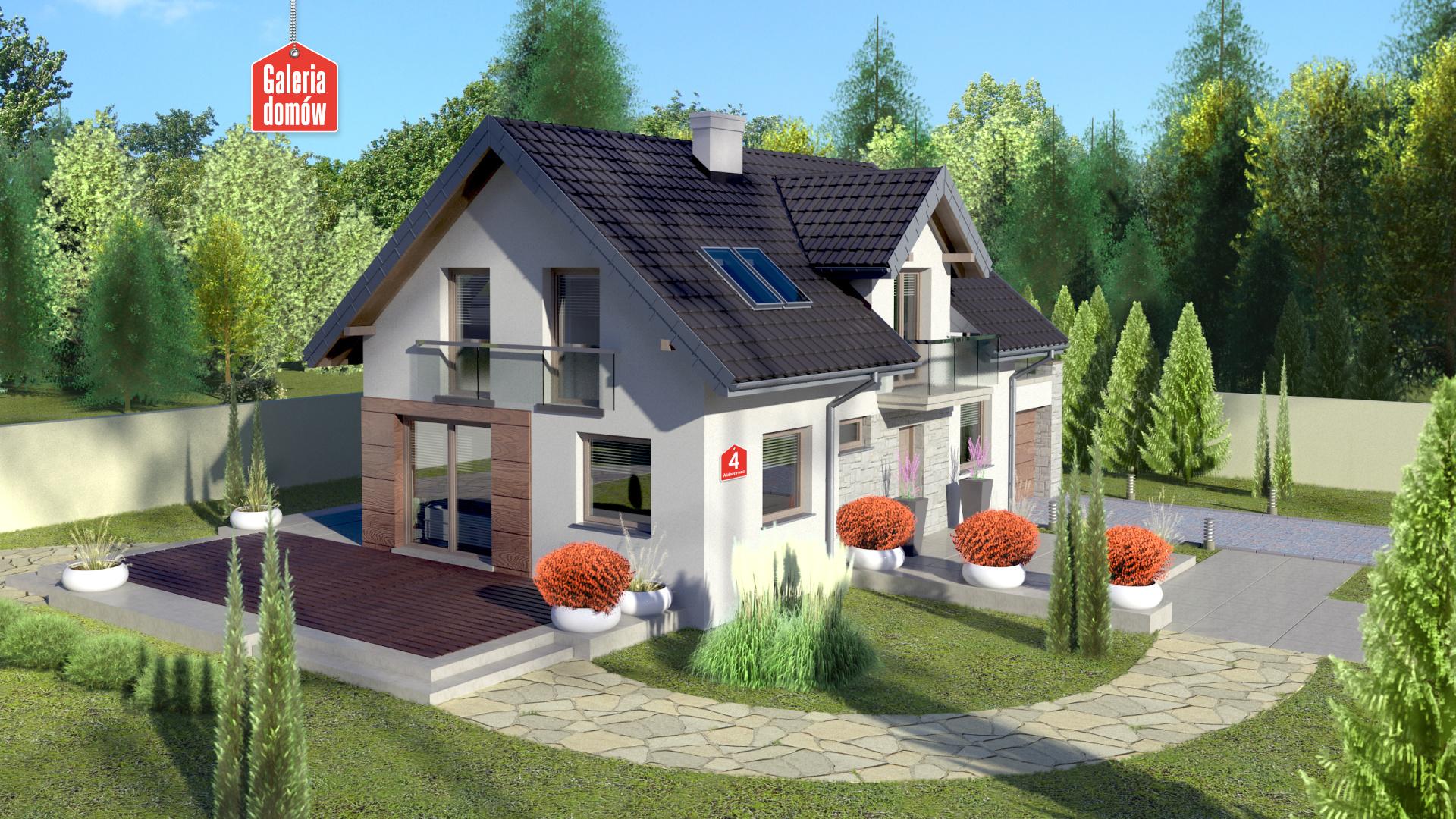 Dom przy Alabastrowej 4 - zdjęcie projektu i wizualizacja