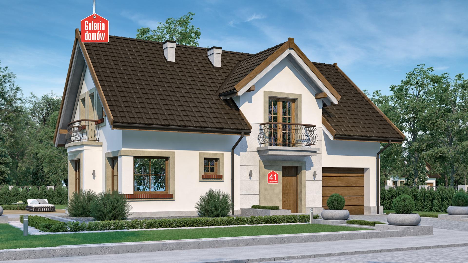 Dom przy Alabastrowej 41 - zdjęcie projektu i wizualizacja