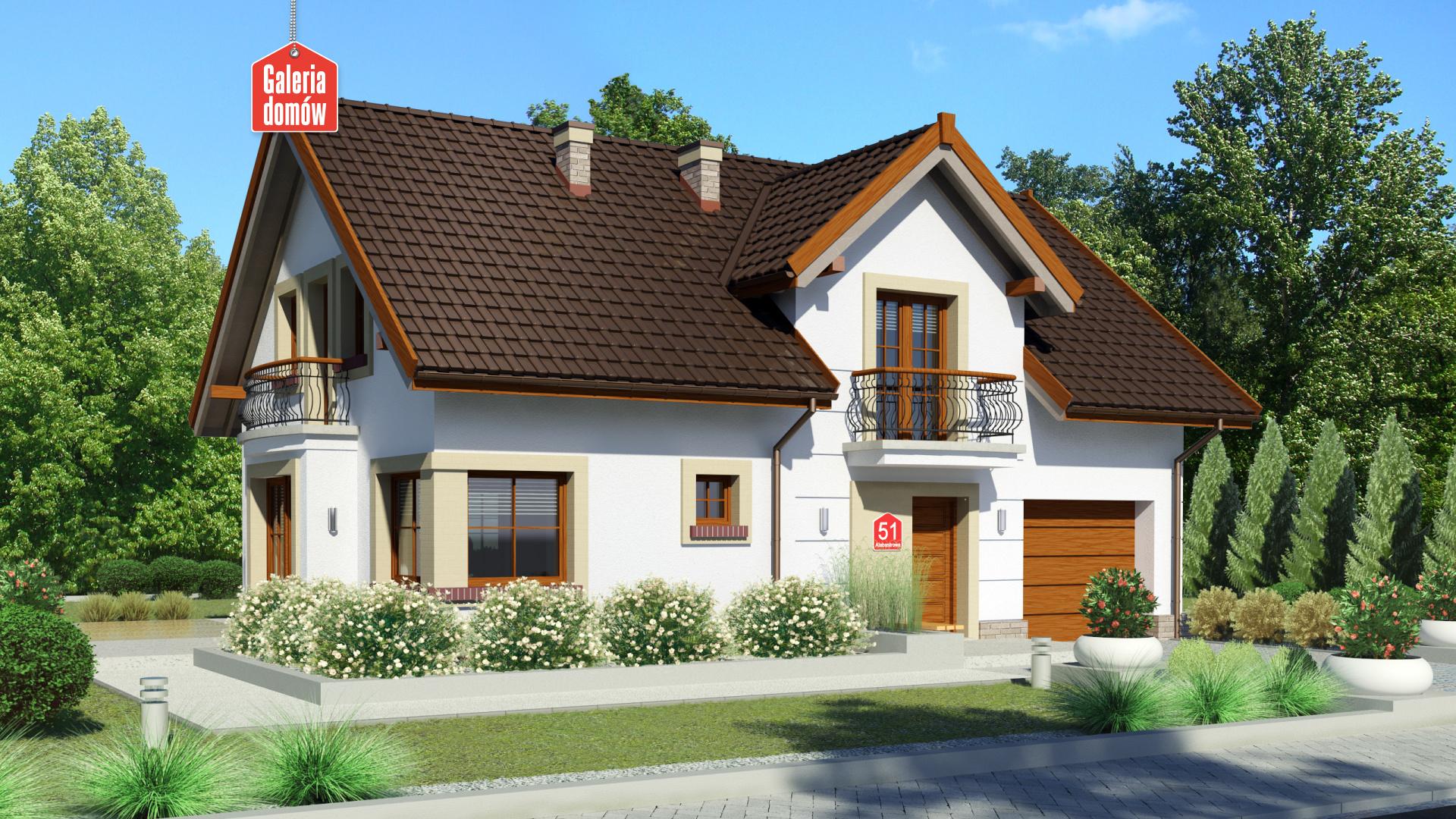 Zdjęcie projektu i wizualizacja: projekt domu Dom przy Alabastrowej 51