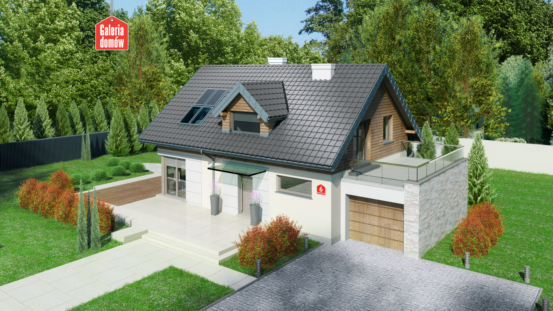 Dom przy Alabastrowej 6 - zdjęcie projektu i wizualizacja