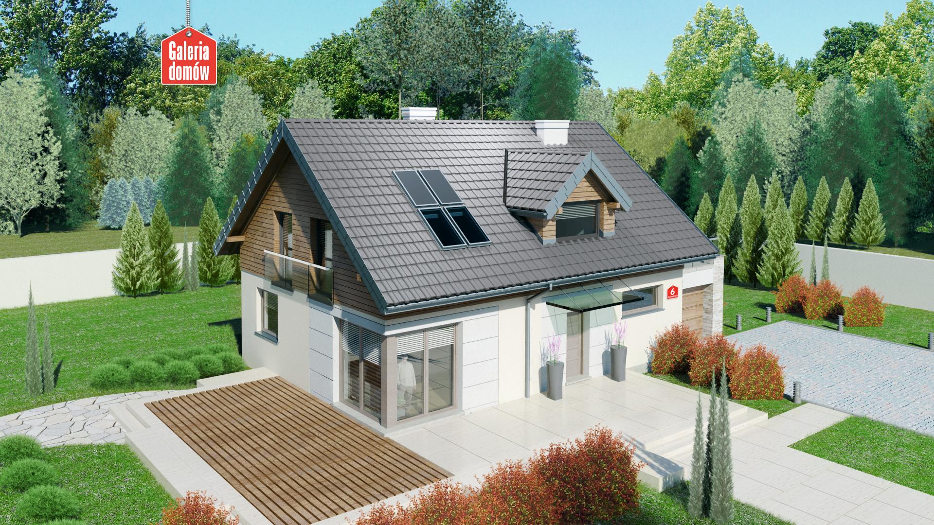 Dom przy Alabastrowej 6 - widok od strony ogrodu