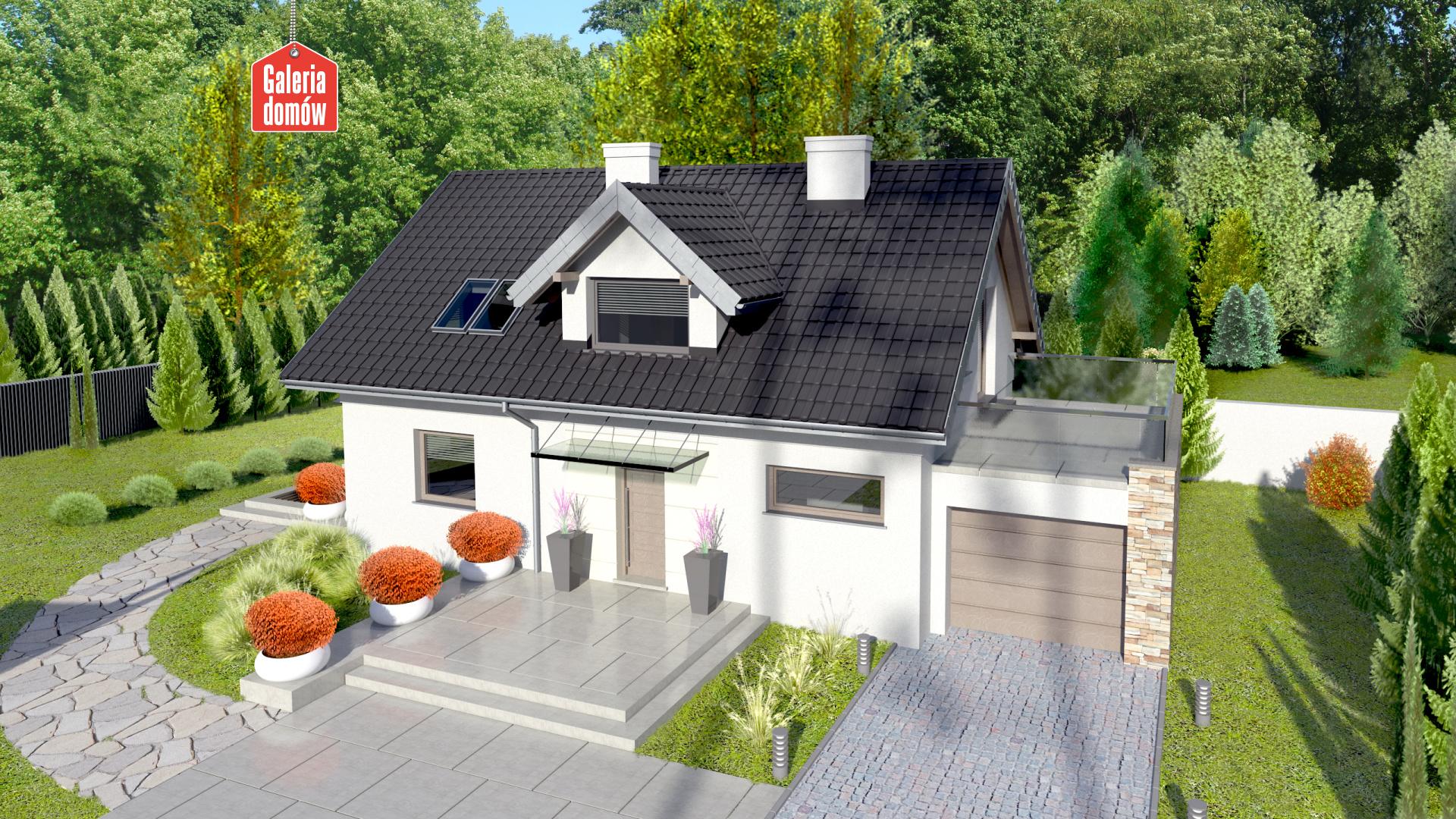 Dom przy Alabastrowej 9 - widok od ogrodu