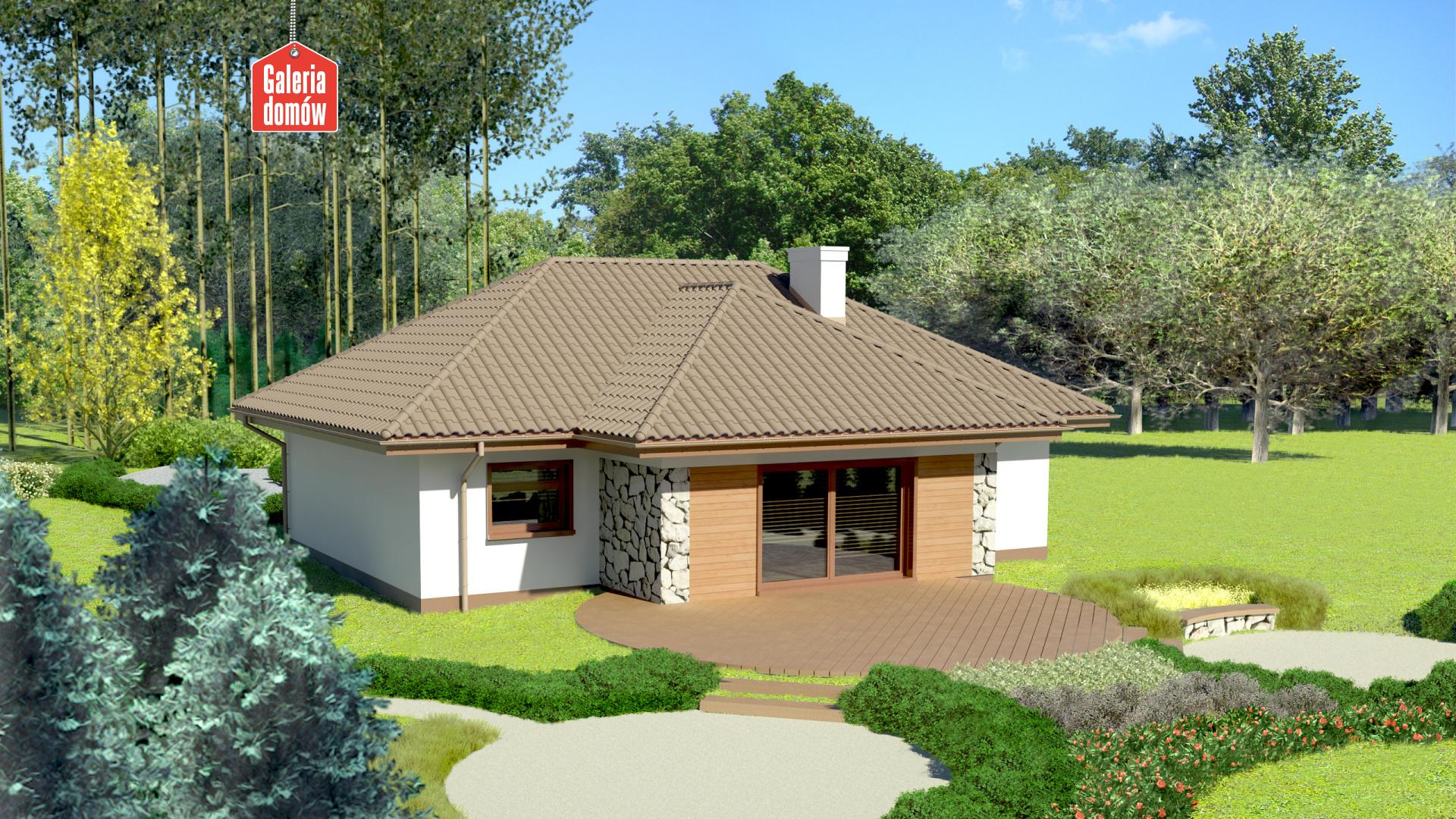 Dom przy Altanowej 2 - widok od ogrodu