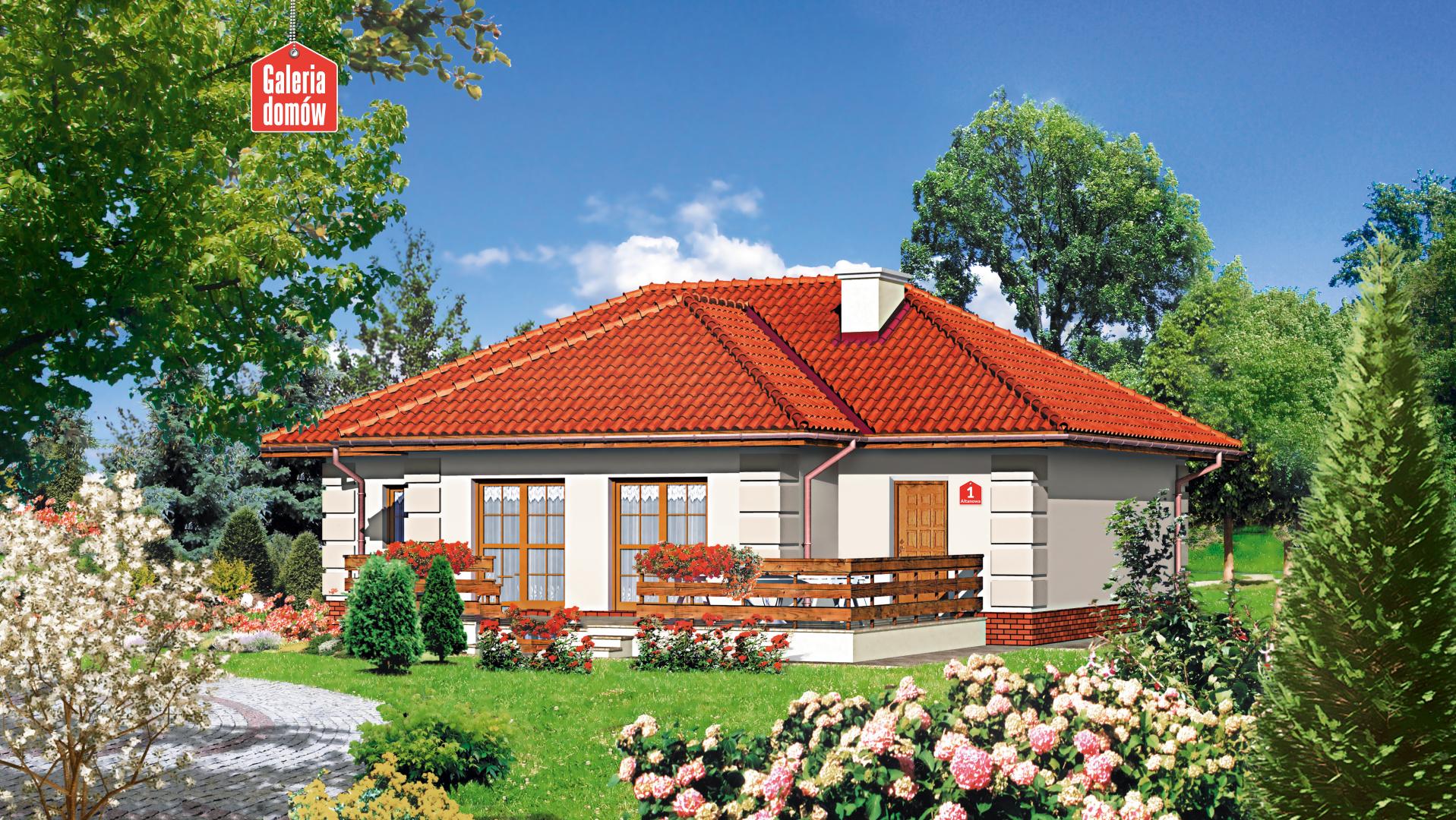 Dom przy Altanowej - widok od ogrodu